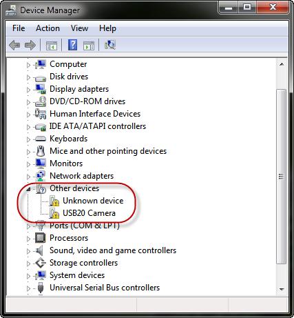 Проверяем исправность драйверов вебкамеры