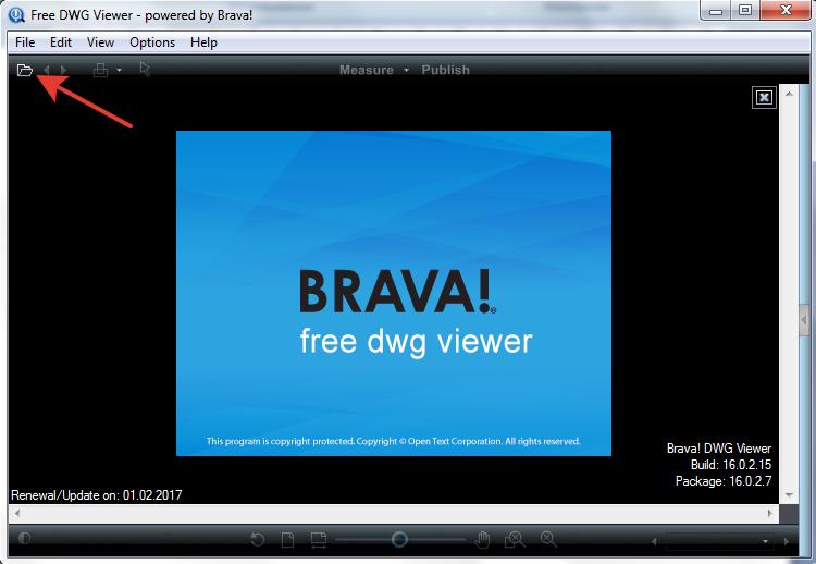 Открываем файл в Free DWG Viewer
