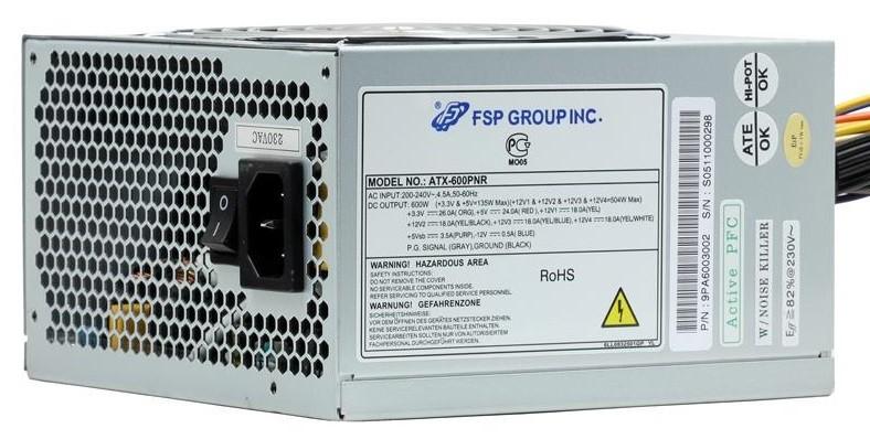 Блок питания FSP Group ATX-600PNR 600W