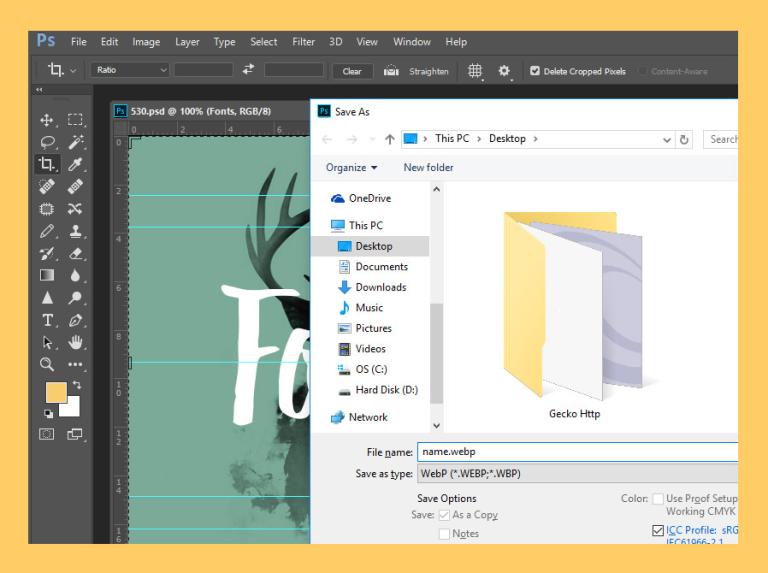 Окно Adobe Photoshop