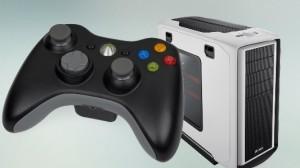 Компьютер и джойстик Xbox 360