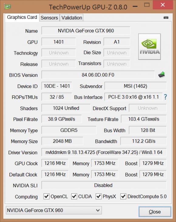 Окно программы GPU-Z