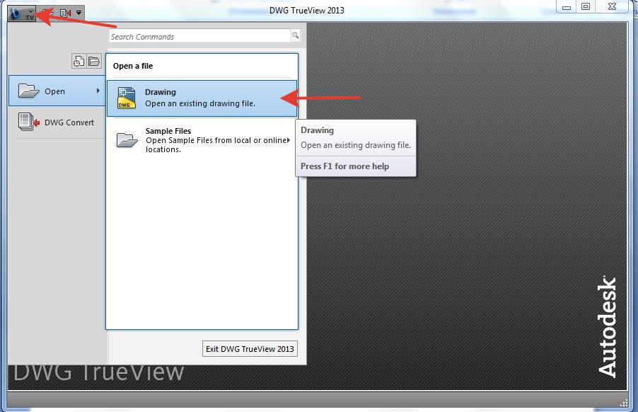Ищем файл в DWG TrueView