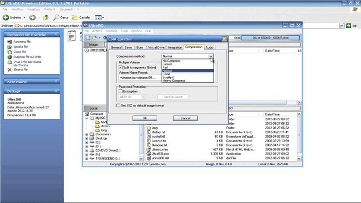 Окно программы Ultra ISO