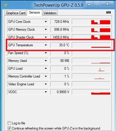 Окно GPU-Z
