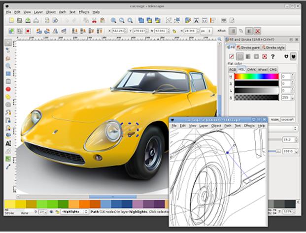 Окно программы Inkscape