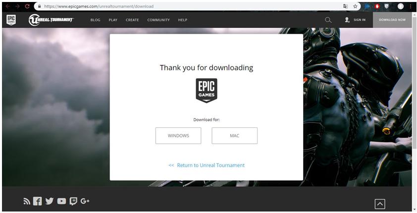 Загрузка Epic Games Launcher