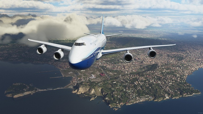 Самолет в Microsoft Flight Simulator (2020)