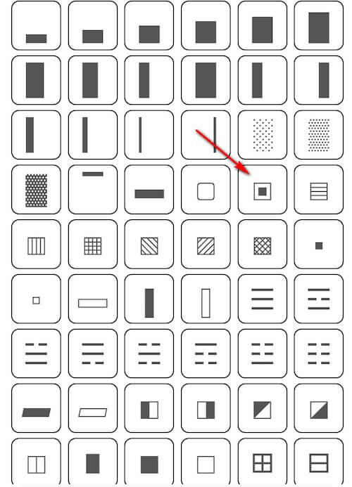 Узоры для фона из символов